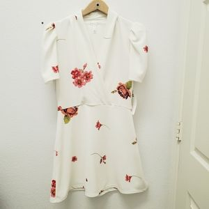 Leith white and floral dress
